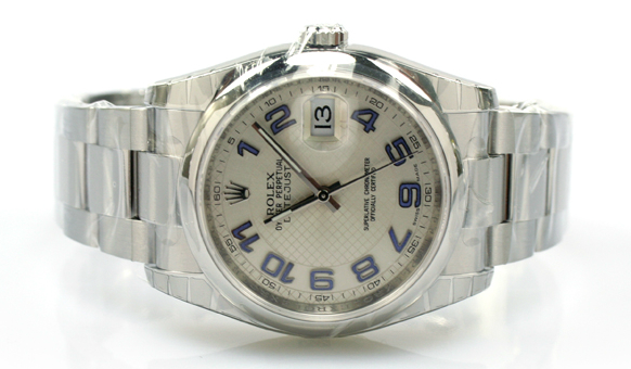 Acciaio Lunetta Liscia Rolex Datejust 36 Orologi Falsi